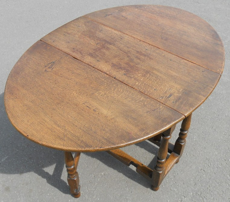 Small Oval Oak Dropleaf Gateleg Table By Titchmarsh Amp Goodwin